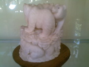 Art Gallery of Mr m Wayan Wetja's(bali)horn carving many bear