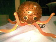 Art Gallery of Mr m Wayan Wetja's(bali)coconut shell squid lamp