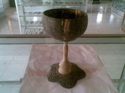 Art handycrafts of Indah Creation (Bali)coconut shell Bar glass