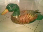 Art handycrafts of Indah creation(Bali)Painting duck statue