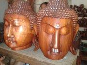 Budha Head wood carving