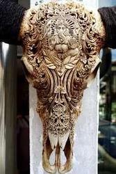 Art handycrafts of Indah creation(Bali)Cow head skull carving