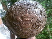 Art Gallery of Mr m Wayan Wetja's(bali)Coconut shell carving barong