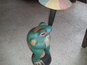 Umbrella frog statue