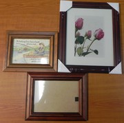 3 standard Timber Frames(14x10cm),  (20x25cm),  (17x11.5cm)