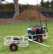 Fishing tackle cart,  trolley or caddy