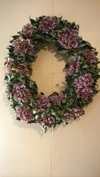 hand made flower wreath