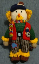 Knitted Soft Toy Handmade Doll Grandpa Scarecrow Family Gift Ideas New