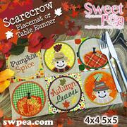 Scarecrow Placemat or Table Runner - Machine Embroidery Design